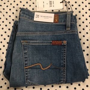 7 for all mankind high waisted ankle skinny Sz 31